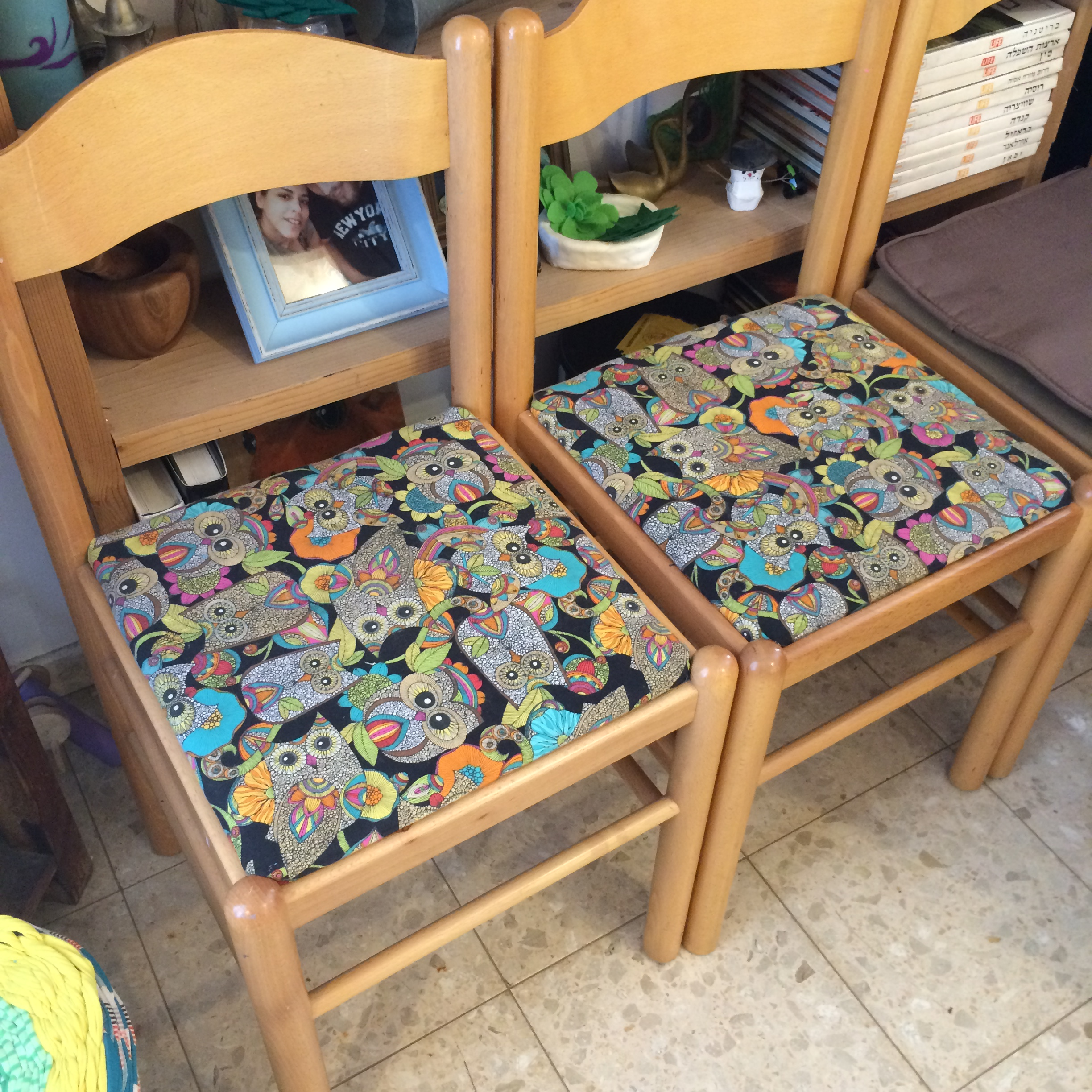 Chairs Reupholstered with Cotton
