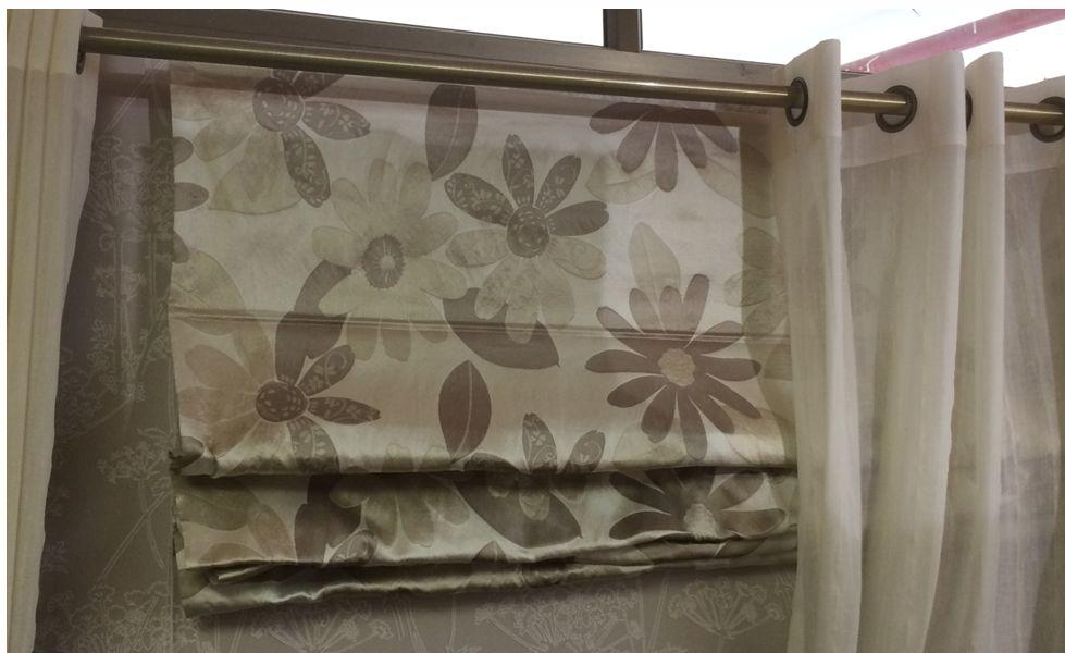 Roman Shade of Heavey Upholstry Fabric