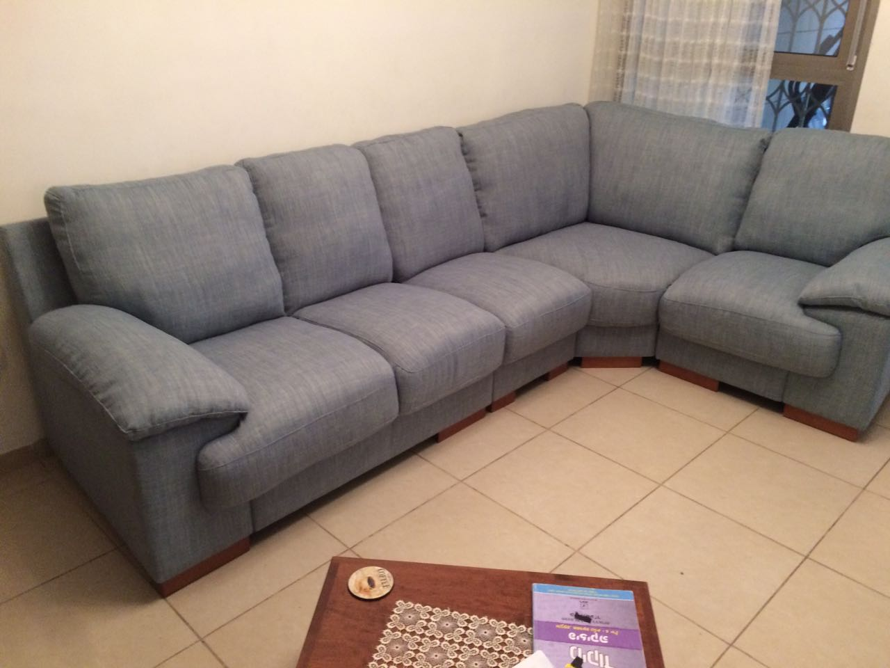 A Corner Sofa in Grey