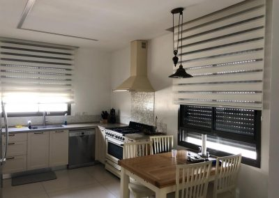 Zebra Blinds in the Kitchen